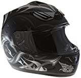 Protectwear H510-11SW Casque de moto intégral, mat noir, avec Motif de...