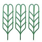3pcs mini fai da te foglia forma giardino traliccio piante grata vasi supporti per piante rampicanti in vaso viti ivy cetrioli
