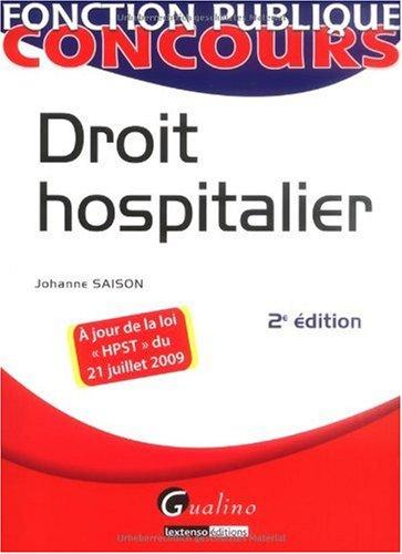 Droit hospitalier par Johanne Saison