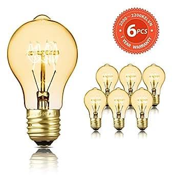 8 x E27 40W Vintage Retro-Glühlampe Filament Birne Glühbirne oM