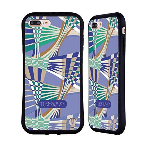 Ufficiale Turnowsky Collage Modelli Case Ibrida per Apple iPhone 6 Plus / 6s Plus Onda Viola