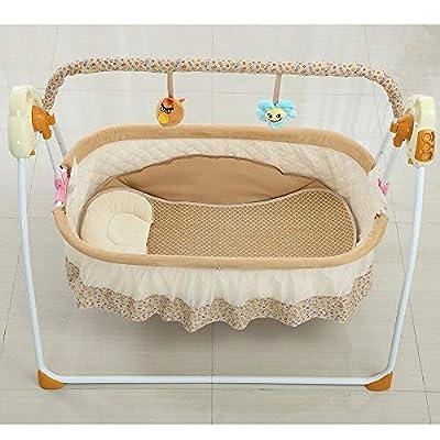 Columpio eléctrico para bebé, 3 colores, cuna mecedora para bebé automática Cuna con música y mosquiteras