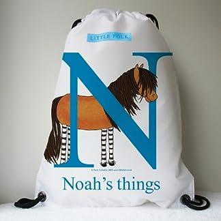 Little Folk Personalised Drawstring Swimming, Grooming Kit Bags for Girls & Boys - Tinker the Little Shetland Pony from… 9