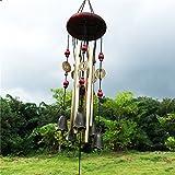 Windspiel Garten, Vintage Holz Bronze Tubes Glocken Anti-Rost Klangspiel Dekoration für Indoor Outdoor Home Decor Glücklich Geburtstag Geschenk