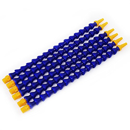 Plastic Flexible Wasser Öl Kühlmittel Rohr Schlauch 6Pcs blau 30mm (Kühlmittel-rohr)