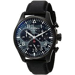 Alpina Geneve Startimer Pilot AL-372BMLY4FBS6 Cronógrafo para hombres Reloj Aeronóautico