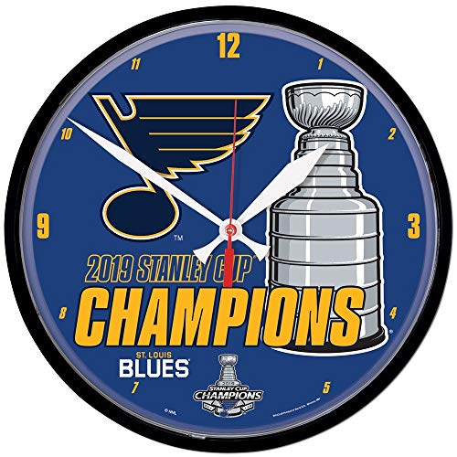 Wincraft St. Louis Blues 2019 Stanley Cup Champions NHL Wanduhr