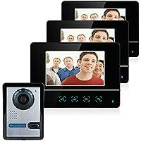 Alta calidad de 7 pulgadas TFT pantalla táctil color LCD Video de la puerta teléfono con