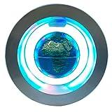 Globo flotante magnético, funwill 4 '' marco circular giratorio Levitating globoO forma Anti-gravedad LED mapa del mundo para la decoración del hogar Artesanía de la moda Regalos de vacaciones