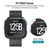 KIMILAR Compatible Fitbit Versa & Lite Edition Screen Protector, (3 Pack) Transparent HD and Shatter-Proof Shield Tempered Glass Screen Protector for Fitbit Versa & Lite Edition Smartwatch