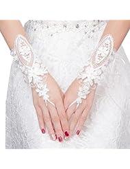 e7557a42502a8 Elegant Lady Formal Banquet Party mariée percé dentelle gants de mariée  gants ...