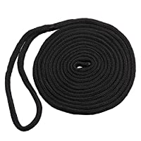 Shaddock Dockline Double Braid Nylon Boating Dock Lines Rope Mooring Rope Ultra Strong and Soft Anchor Rigging Line Boat Accessories,16.5ft,3/8inch 6
