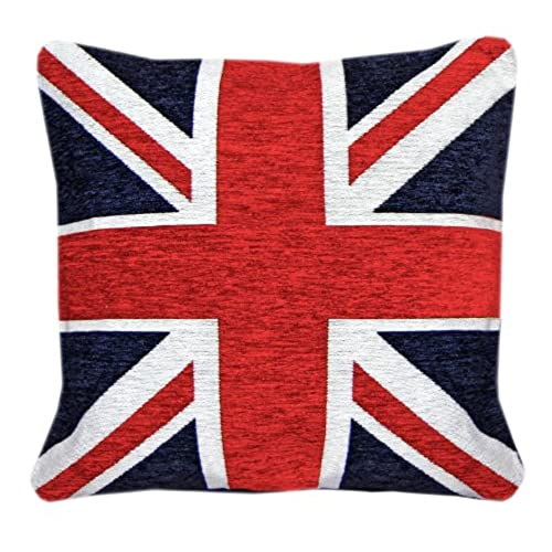union jack furniture. Just Contempo Union Jack Cushion Cover, Red, 18x18 Inches Furniture