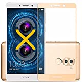 Preimum Full tempered glass Screen Protector for Huawei Honor 6X (Gold)