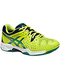 Asics - Gel Resolution 6 Clay, color amarillo, talla EU 39 1/2