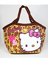 Home-Hello Kitty PVC Aluminum Insulated Tote Bag (Leopard Pattern / Brown) [Disney]