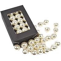 1000 Perlen perlmutt weiß Hochzeit Wachsperlen 6mm Perle Kommunion StreuDeko