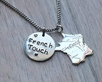 Collier France Carte du Pays French Touch HANDMADE Fait main