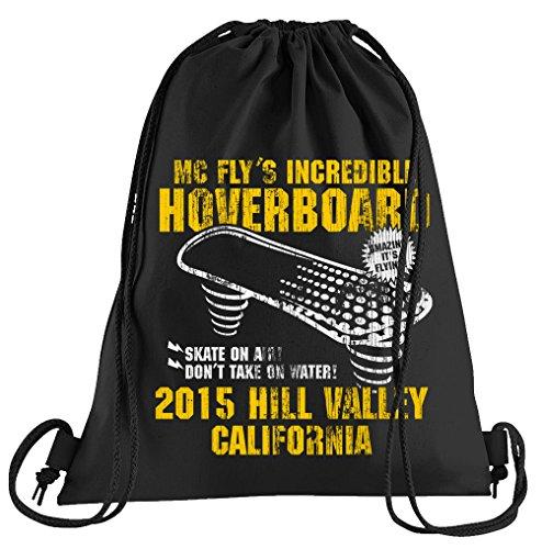 T-Shirt People Hoverboard California Sportbeutel - Bedruckter Beutel - Eine schöne Sport-Tasche Beutel mit Kordeln Zukunft Flux Delorean - Hoverboard Kostüm Aus