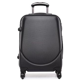 "Kono Hard Shell 4ruedas 20""equipaje de mano maleta cabina luz Plain bolsas de viaje con ruedas"