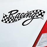 Auto Adesivo In deiner colore a scelta Racing Race Flag Bandiera di destinazione Tuning Fun Dub OEM JDM 15x 5cm auto adesivo Sticker