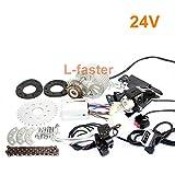 L-faster neueste 450W E-Bike-Motor-Kit Elektrische Mehrfach-Speed-Fahrrad-Umbausatz Elektrische Engine-Kit für Multi-Speed-Fahrrad (24V Thumb Kit)