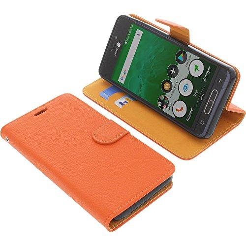 Tasche für Doro 8035 Book Style orange Schutz Hülle Buch