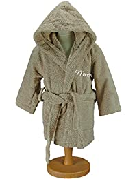 [personalizable] albornoz personalizado niños Uni con capucha – Cordel – tamaño 2, 4, 6, 8/10 12/14 años o – bordado gratuita en todos los…