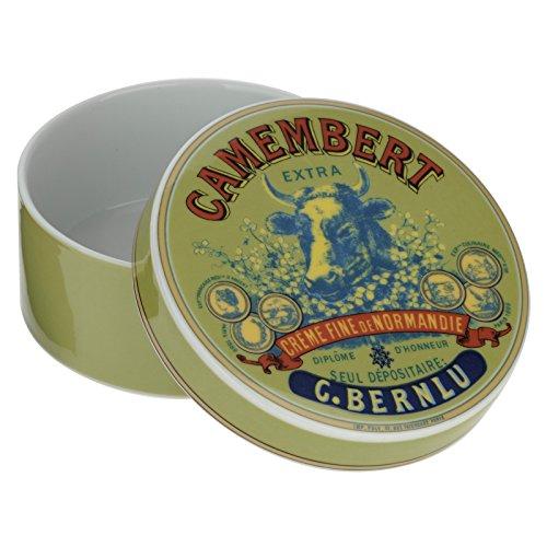 Bia Tête de Vache à camembert Baker et housse, vert/bleu et rouge