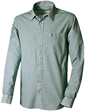 ALMSACH Trachtenhemd Wirsberg - Slim-Fit Herren Hemd mit Muster in grün aus 100 % Baumwolle - Größen S-XL