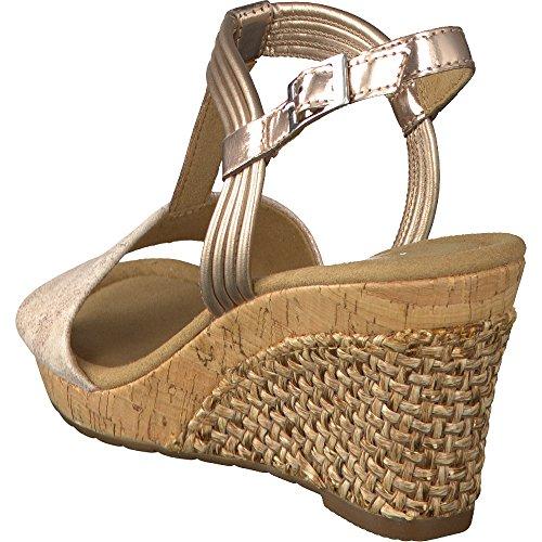 e920b31cb1ca82 ... GABOR comfort - Damen Keil-Sandaletten - Rosa Schuhe in Übergrößen Rose  ...