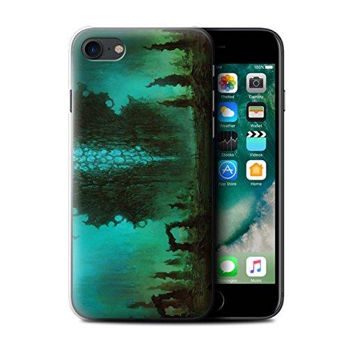Offiziell Chris Cold Hülle / Case für Apple iPhone 7 / Chaos Entfesselt Muster / Fremden Welt Kosmos Kollektion Alien Landschaft