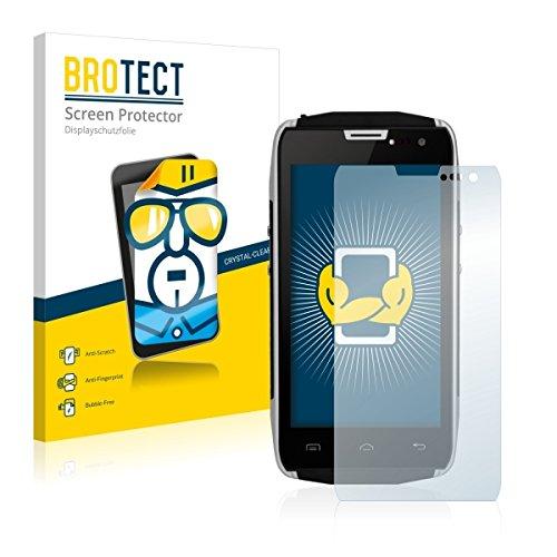 2X BROTECT HD Clear Displayschutz Schutzfolie für Doogee Titans2 DG700 (kristallklar, extrem Kratzfest, schmutzabweisend)