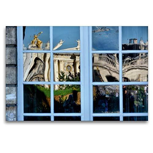Premium Textil-Leinwand 120 x 80 cm Quer-Format Fenster von City Hall | Wandbild, HD-Bild auf Keilrahmen, Fertigbild auf hochwertigem Vlies, Leinwanddruck von Thomas Bartruff