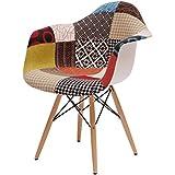 Beat Collection Patchwork 2 - Silla para comedor, 77 x 62 x 61 cm, multicolor