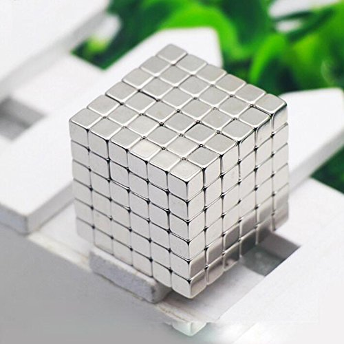 Magnet Cube 216 Pcs Mini Strong Magnet Multifunctional Intelligence Develop Suited Office Environment by WHJY (Silver) Test