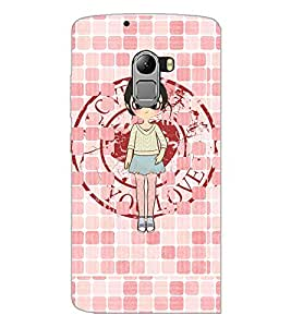 PrintDhaba Girl with spectacles D-4065 Back Case Cover for LENOVO VIBE X3 LITE (Multi-Coloured)