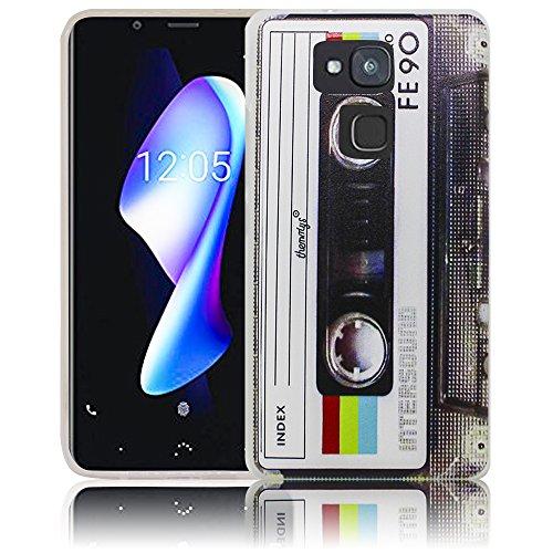 bq Aquaris V Cassette casete Retro Funda de silicona protectora Funda de  silicona Funda de silicona 91bd3bcf0b5e5