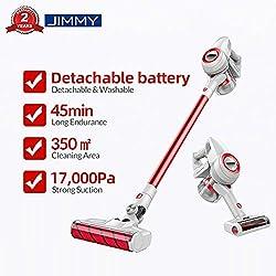 JIMMY Xiaomi JV51 Aspirateur Balai sans Fil sans Sac, 4 en 1 Aspirateur Puissant Avec (puissance d'aspiration de 17 000 Pa, batterie amovible, durée de fonctionnement allant jusqu'à 45 minutes)