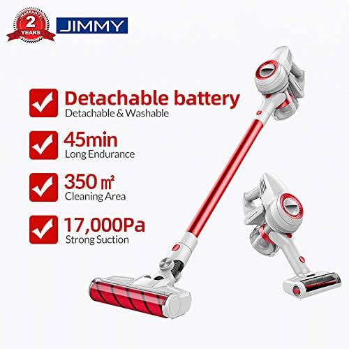 JIMMY Xiaomi JV51 Vacuum Broom, Cordless Vacuum Cleaner, Vacuum cleaner 4 in 1 (Suction power 17,000 Pa, removable battery, autonomy to 45 me, Low noise)