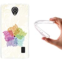Funda Alcatel OneTouch Pop 3 5.5, WoowCase [ Alcatel OneTouch Pop 3 5.5 ] Funda Silicona Gel Flexible Mándala Colorida, Carcasa Case TPU Silicona - Transparente