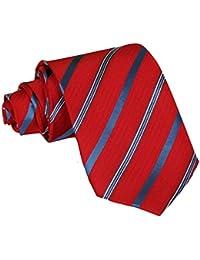 Tangda - Cravate Rayée - Homme - 145cm - Unique Soirée Businesse Mariage Cérémonie