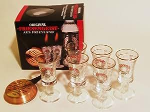 Friesengeist Liqueur Glasses in Geschenkkarton