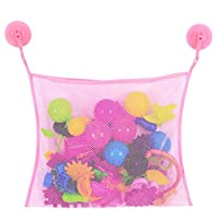 Lukame Toy Bag Bath Toys Net Game Holder with 2 Powerful Hook Suction Cups