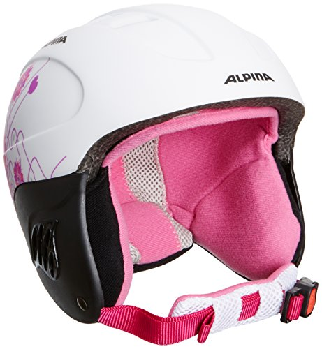 Alpina Kinder Skihelm Carat L.E., White-Pink Matt, 48 - 52, 9042114