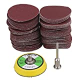 Cnbtr Grain 60-2000 # 5.1cm Sander Disc Sanding Pad Sandpaper Buffing Pad Set of 100, M6171225178