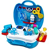 Emob 18 Pcs Medical Equipment Doctor Play Set With Handy Suitcase For Kids