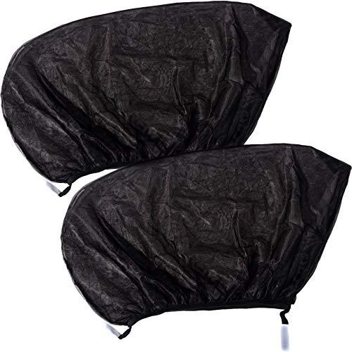 Smartfox 2X Sonnenschutz für Baby Blendschutz Insektenschutz für Seitenfenster PKW KFZ Auto schwarz
