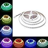 Lahoku---LED Strip Lights 32.8Ft (10M)600leds/60 luces por metro,Flexible Color RGB 24V SMD5050 LED Strip Light, luces LED con, iluminación led(No es impermeable)