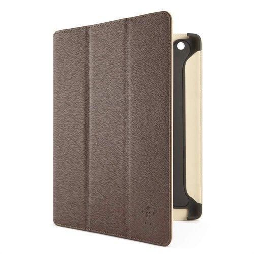 Belkin Pro Trifold F8N755cwC02 PU Kunstleder Folio (Standfunktion, Magnet, Auto-wake Funktion) für iPad 4, iPad 3rd Generation, iPad 2 braun